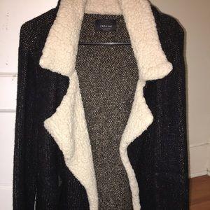 ZARA knit sherling sweater